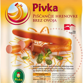 Pivka Pivka Chicken sausages   Without Skin   200G