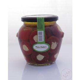 Mama Slavkas Cherry Mamas Slavkas | Rood of Geel Kersen paprika met sojakaas | 580ML