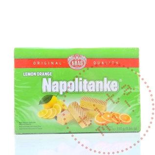 Napolitanke Kekse | Haselnusswaffeln Zitronengrün | 330G