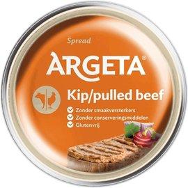 Argeta Argeta   Pâté de bœuf effiloché au poulet   95G
