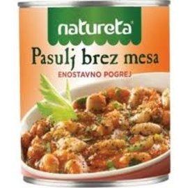 Natureta Natureta Pasulj bez Mesa | Vegetarian Beans | 415G