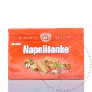 Napolitanke Biscuits | Hazelnootwafeltjes Rood | 330G