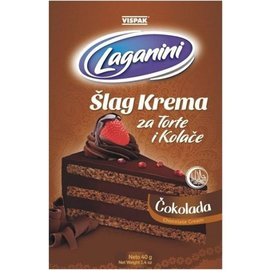 Laganini Schlagsahne Schokolade | Schlacht von Krema Cokolada Laganini | 60G