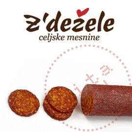 Zdezele Kulen   Saucisse au paprika   Z'dezele   370G   Prix par pièce