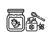Confiture, miel et garnitures