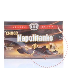 Kras Napolitanke Biscuits   Chocoladewafeltjes   500G