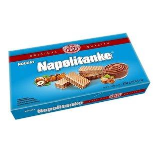 Napolitanke Biscuits   Nougatwafeltjes Blauw   330G