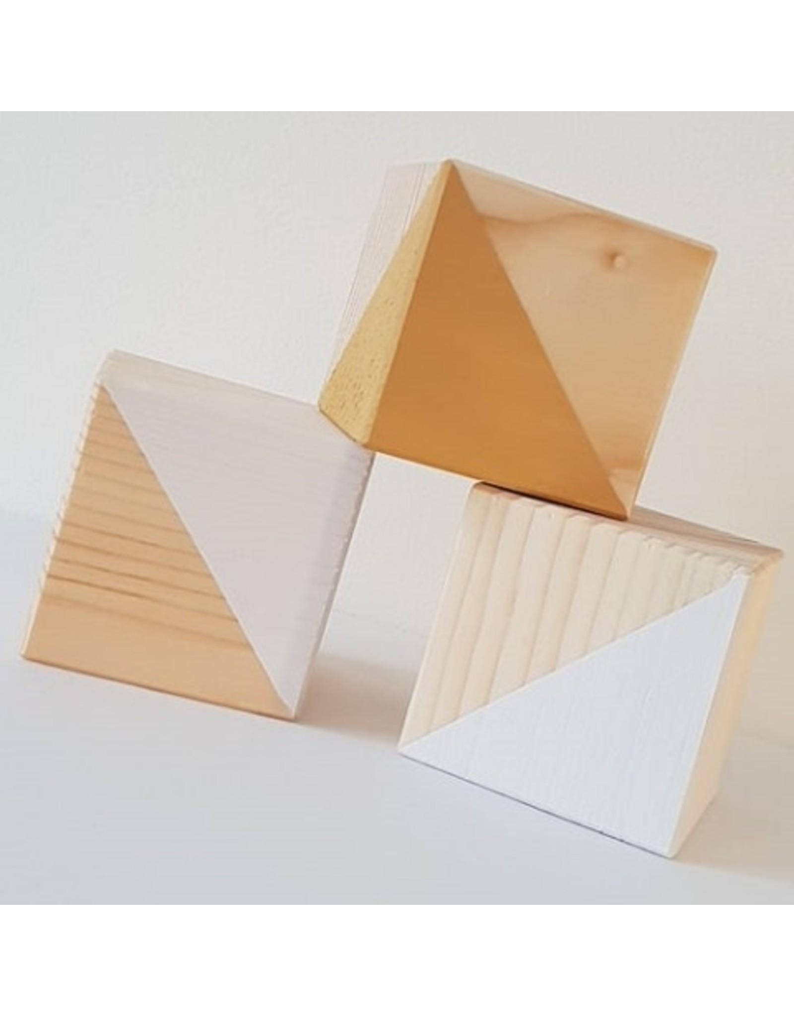 Momof3 Letterblokjes: Munt & oker