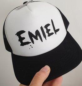 Trucker cap met naam: zwart