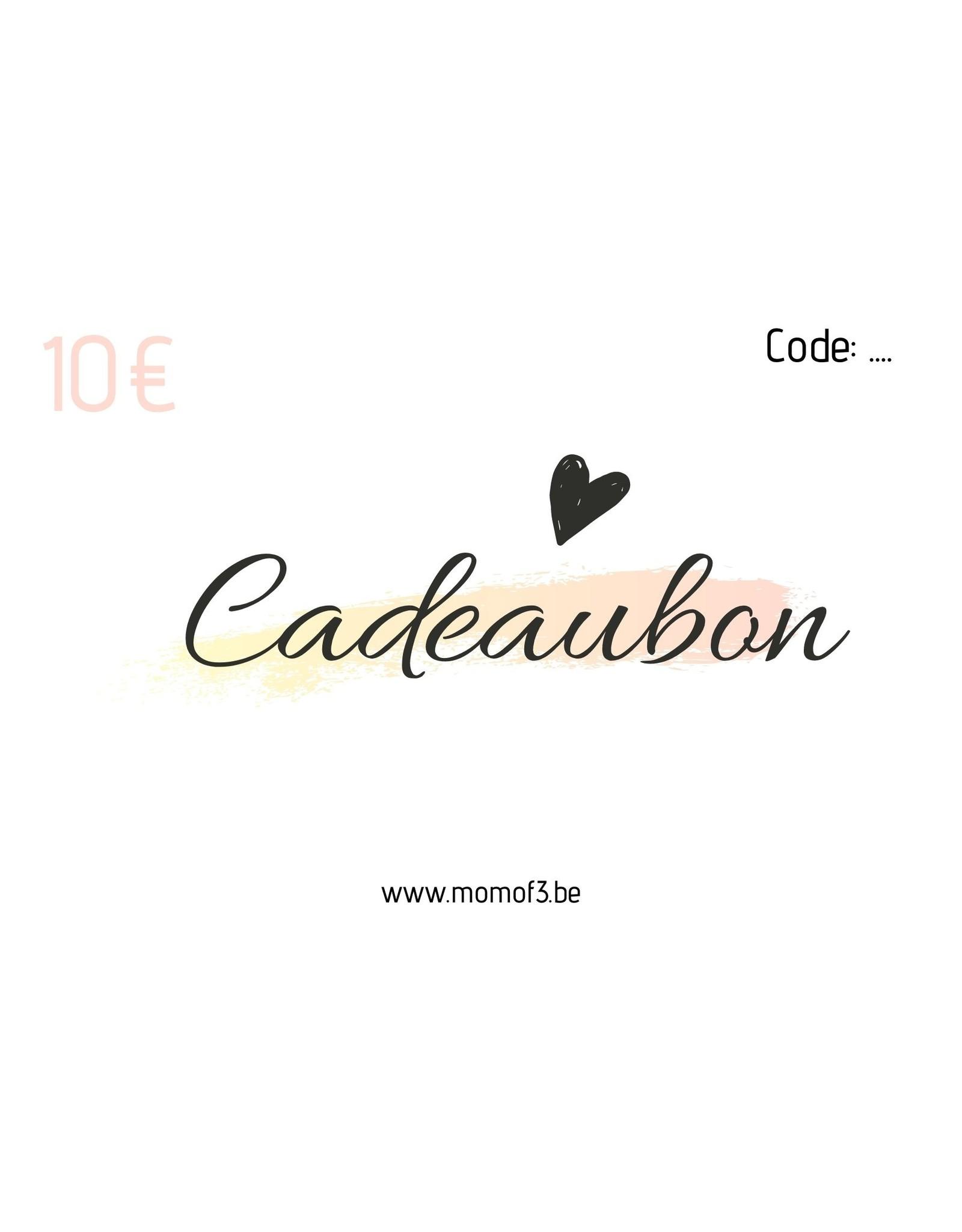 Momof3 Cadeaubon 10€