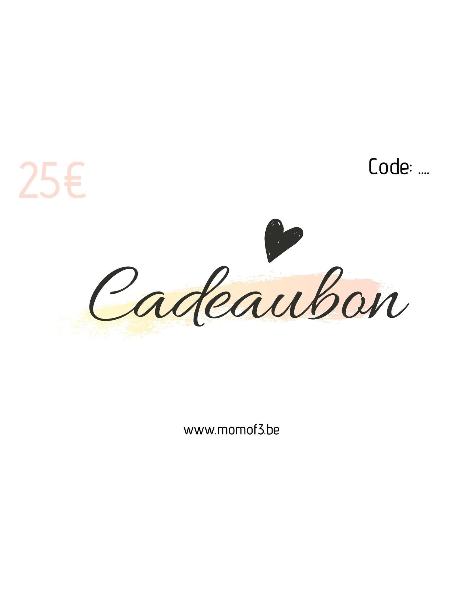 Momof3 Cadeaubon: 25€