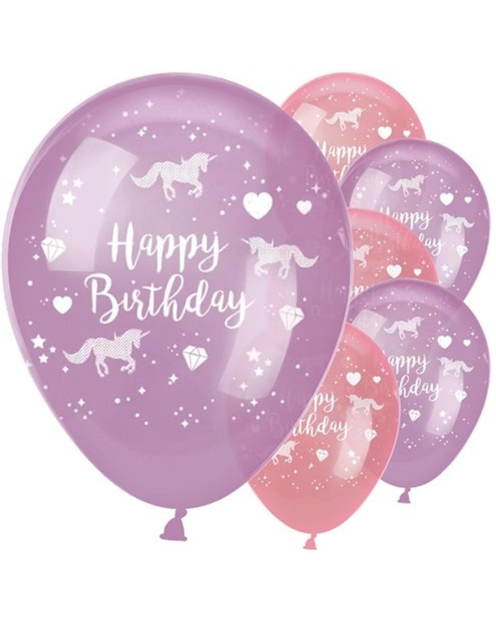 6 unicorn ballonnen