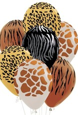 5 dierenprint ballonnen