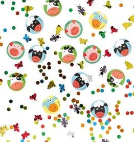 Boerderij tafel confetti