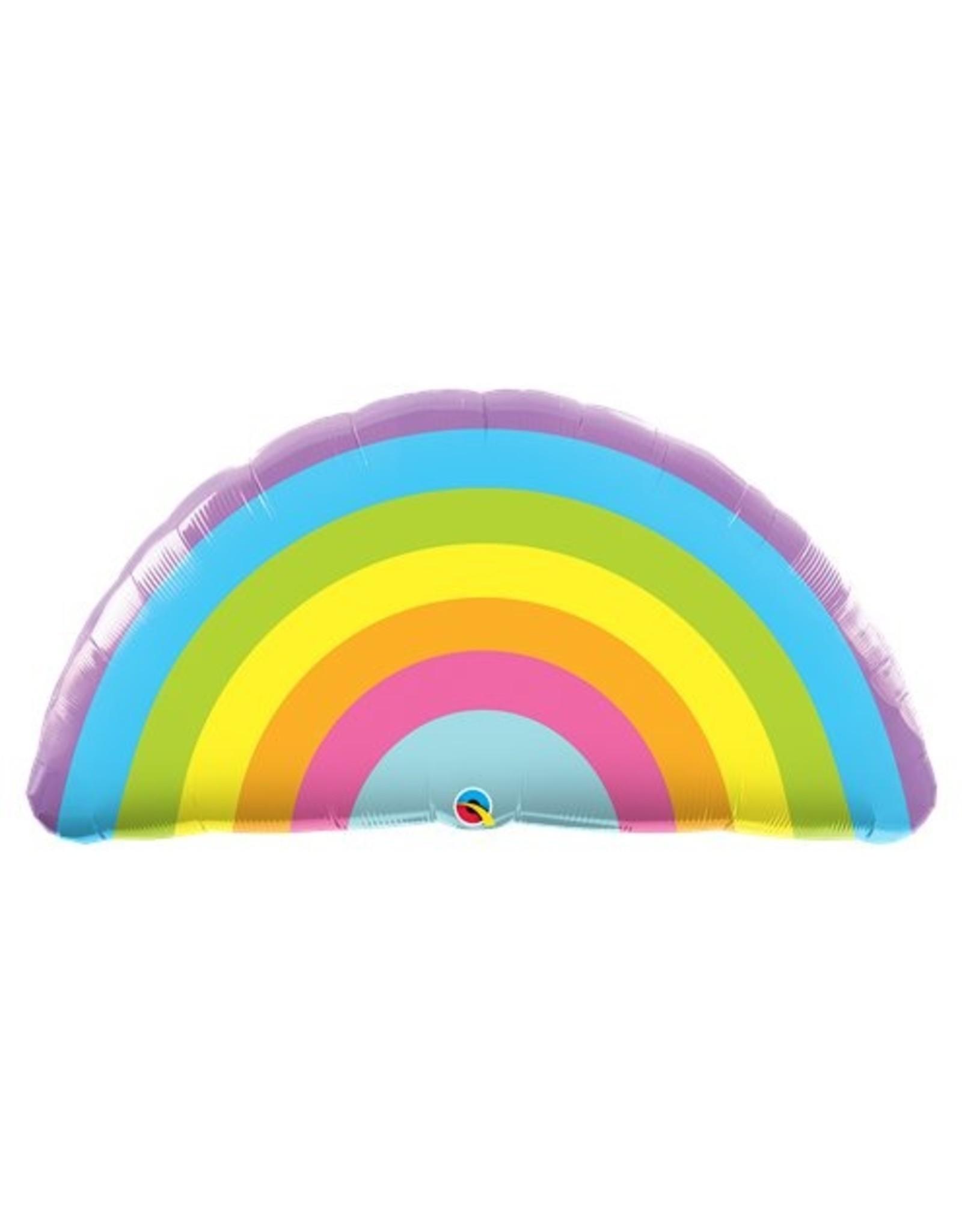 Supergrote regenboog folieballon 91 cm