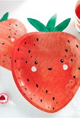 12 aardbeien bordjes