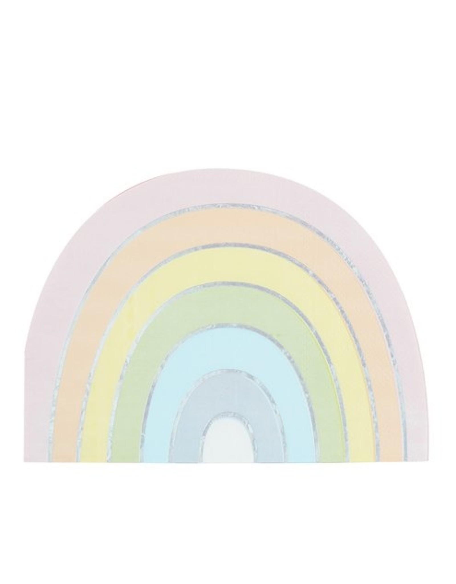 16 regenboog servetten