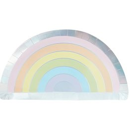 8 regenboog bordjes