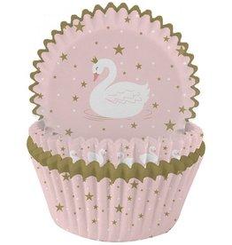 Cupcake vormen: zwaan