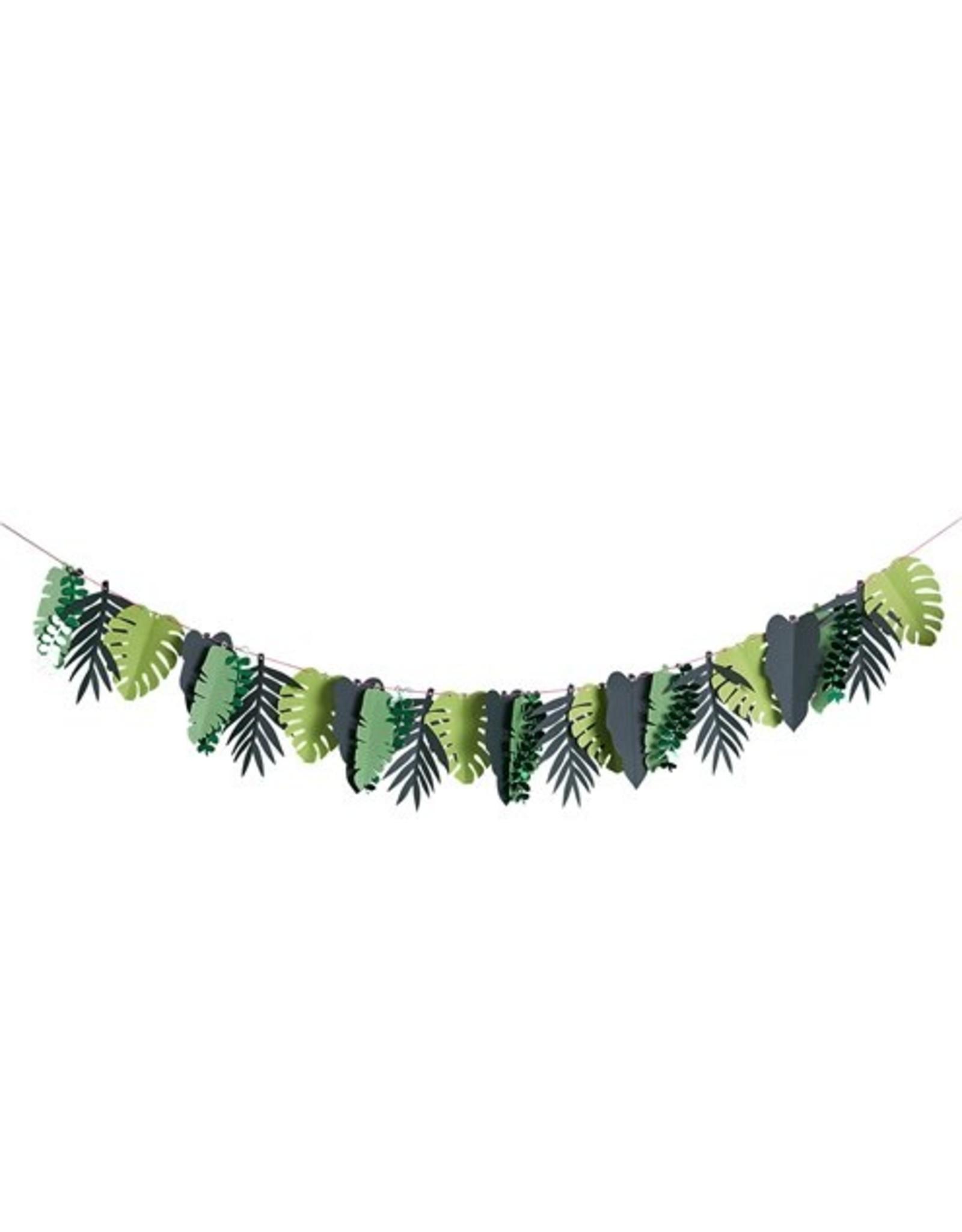 Papieren slinger tropische bladeren