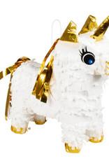 Eenhoorn piñata goud - wit