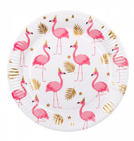 6 flamingo bordjes