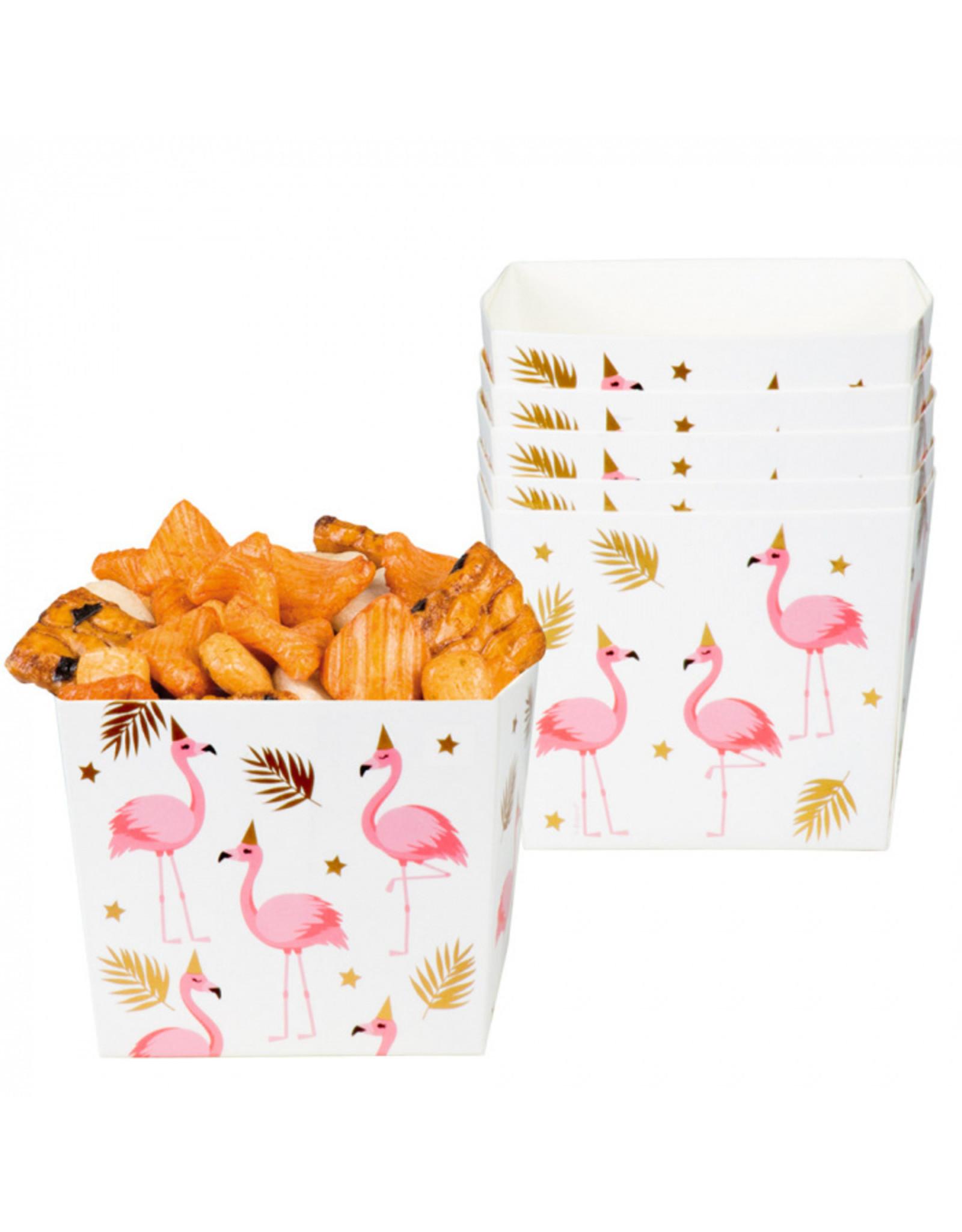 Flamingo feestbakjes 6x