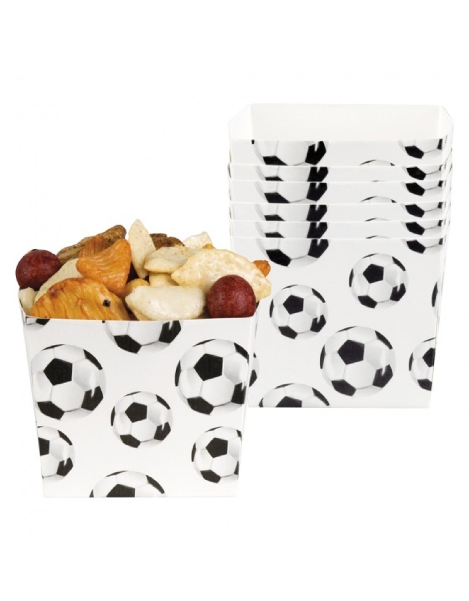 6 voetbal snackbakjes