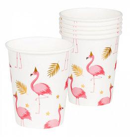 6 Flamingo bekers