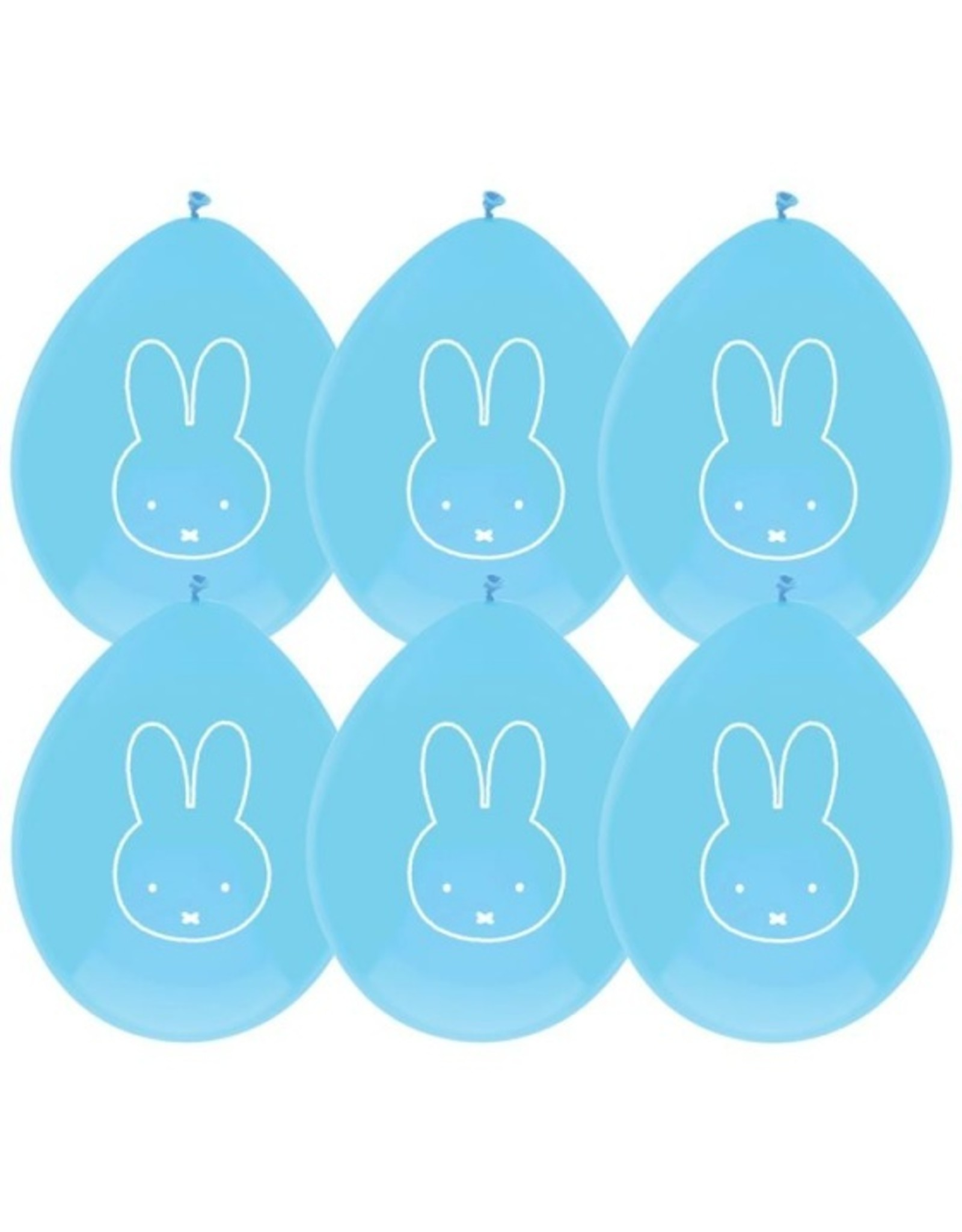 6 blauwe nijntje ballonnen