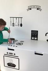 Speelgoedkist met keukenuitvoering