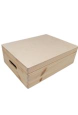 Blanco houten kist laag model