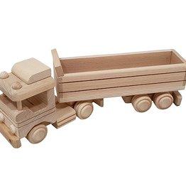 Blanco houten vrachtwagen