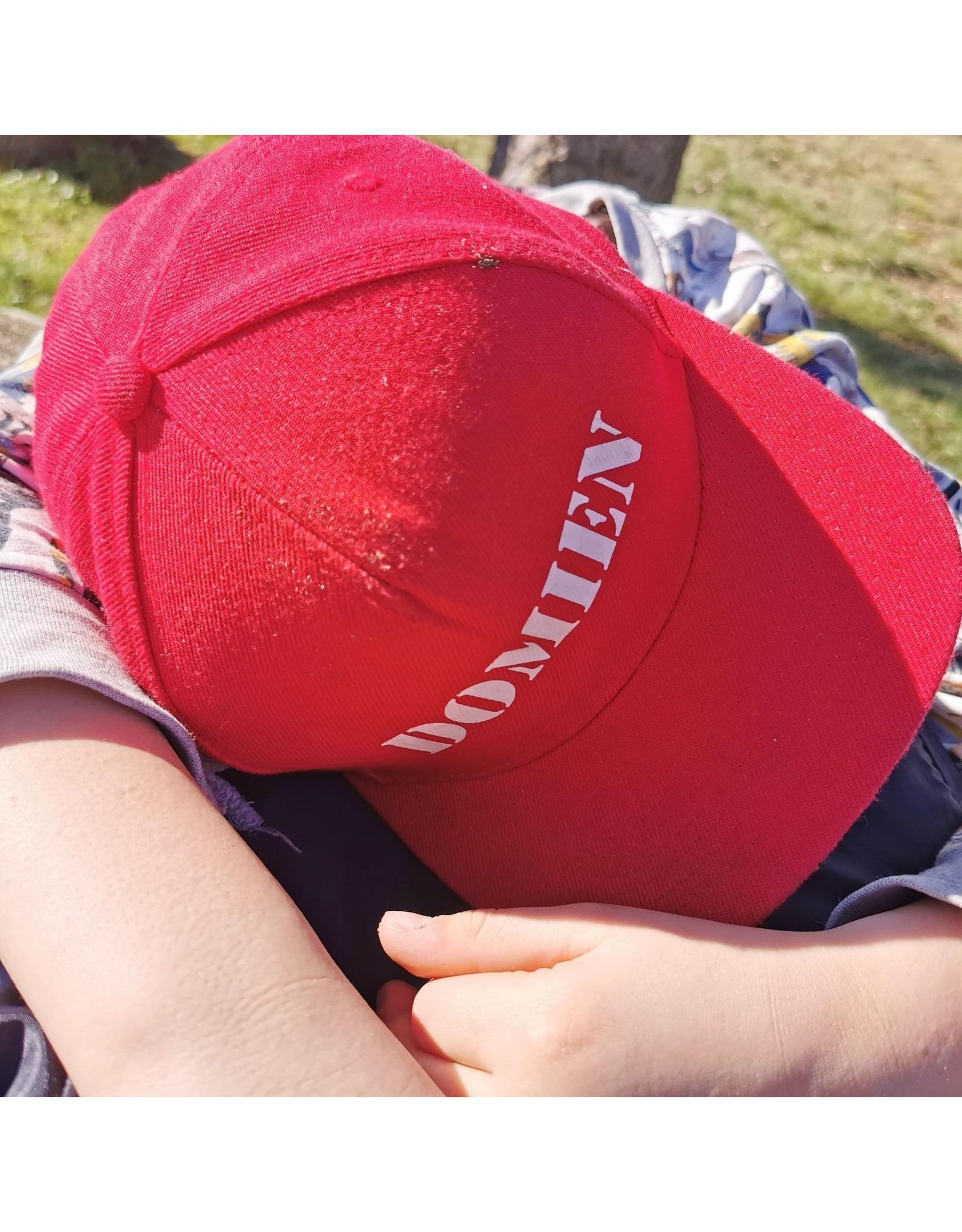 Cap met naam: Rood