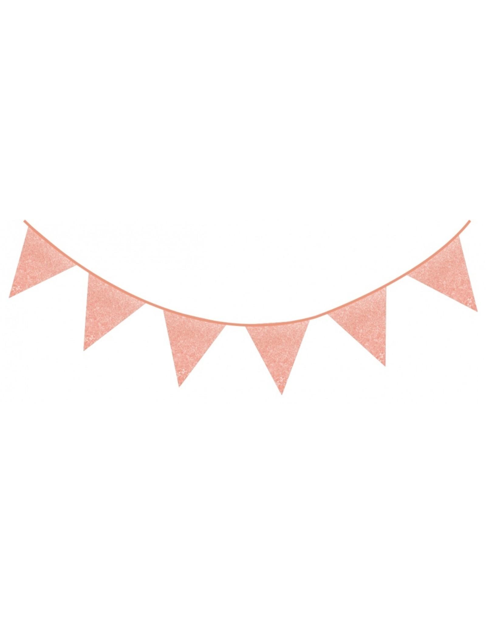 Feestslingers roze  en glitter