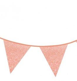 Feestslingers roze gold en glitter
