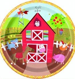 8 boerderij feestbordjes