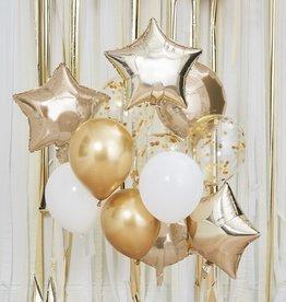 Gingerray Mettalic gouden ballonnentros