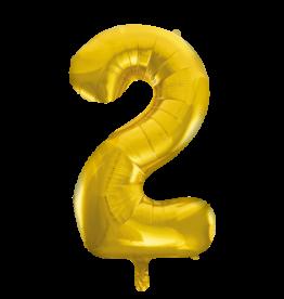 Cijferballon XXL goud / 2