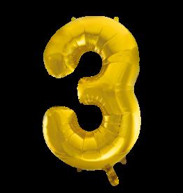 Cijferballon XXL goud / 3
