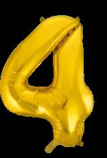 Cijferballon XXL goud / 4