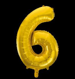 Cijferballon XXL goud / 6