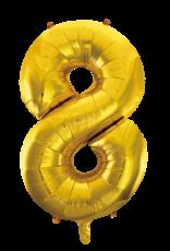 Cijferballon XXL goud / 8