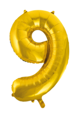Cijferballon XXL goud / 9