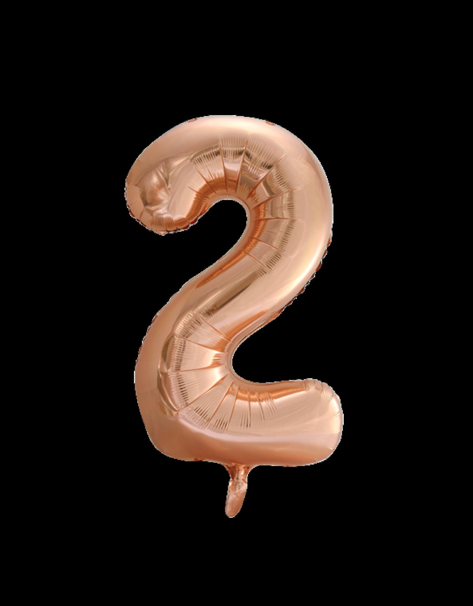 Cijferballon XXL rosé goud / 2
