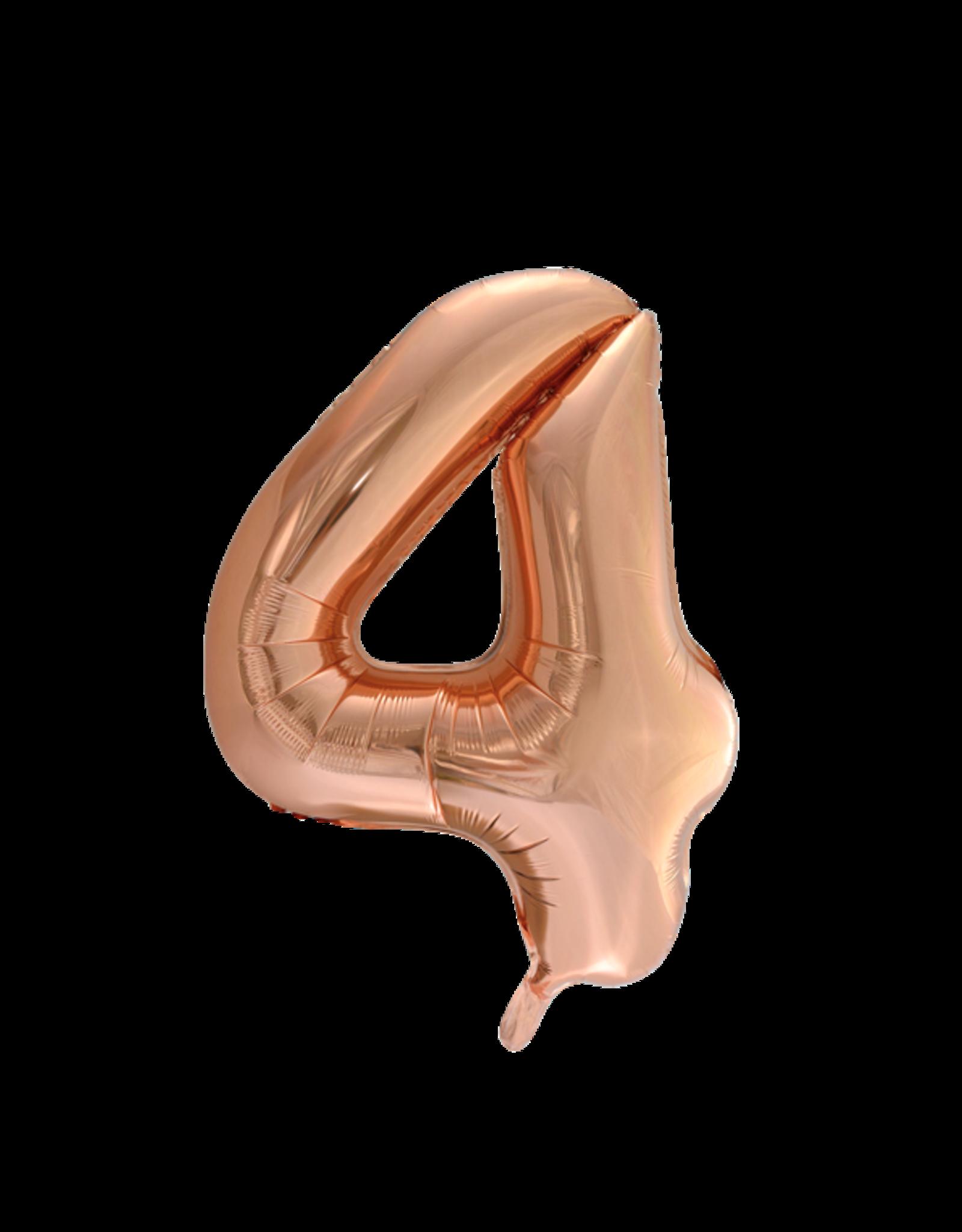 Cijferballon XXL rosé goud / 4