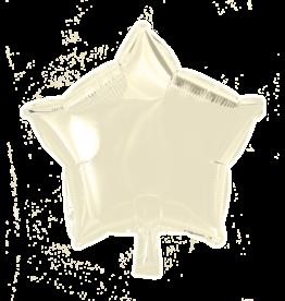 Folieballon ster: Ivoor