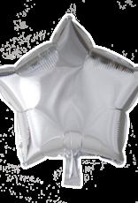 Folieballon ster: Zilver