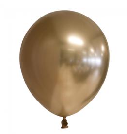 10 chrome gouden ballonnen