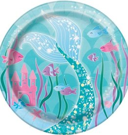 Feestborden Mermaid  8 stuks
